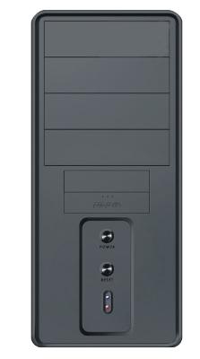 Midi Tower ANS ATX RJA 245C type 6U2X 2xUSB 2.0 450W 20+4 pin Black, Tunel + ventilator