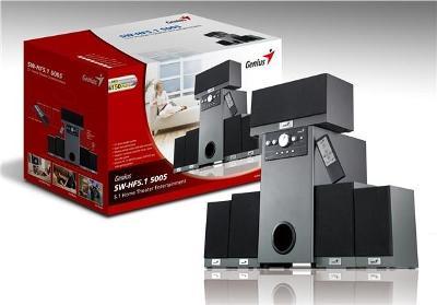 Outlet- Zvučnici Genius Home Theater Deluxe SW-HF5.1 5005  RMS 150 W Wooden, daljinski, black
