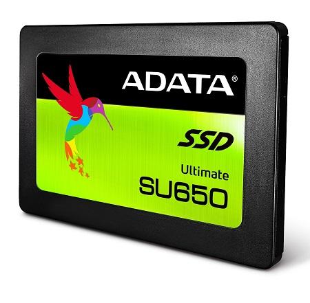 SSD ADATA 120GB SU650 ASU650SS-120GT-C 3D Nand Read/Write: 520 MB/s / 320 MB/s