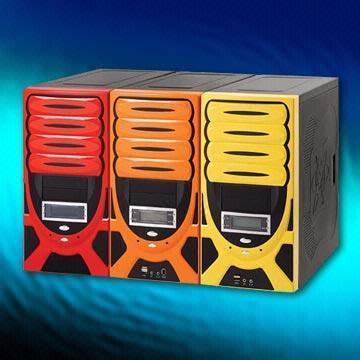 Midi Tower ANS ATX 4JA 1050 D type 300W P4,151C+6U2X, 1C , USB out 2,0, Orange-Black