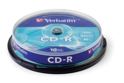 CD-R Verbatim 80min 700 MB 52X 10/1