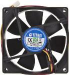 Ventilator za kućište 80 x 80 x 25 mm, Titan DCF-8025L12S, Retail