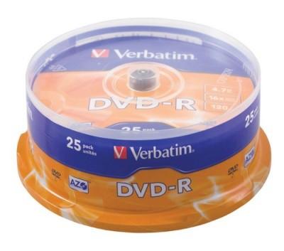 DVD-R Verbatim 4,7 GB 16X 25/1