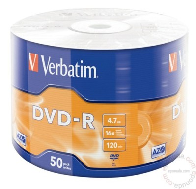 DVD-R Verbatim 4,7 GB 16X 50/1