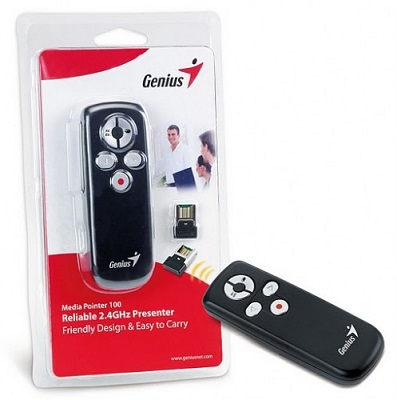 Prezenter Genius Media Pointer 100 USB 2.4GHz Pico Dongle