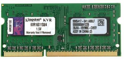 DDR3 4GB 1600MHz Kingston KVR16S11S8/4, SO-DIMM