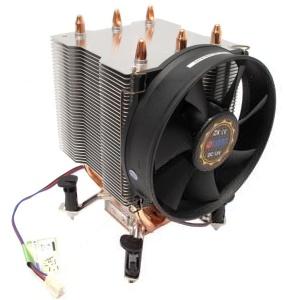 Kuler Titan TTC-NK34TZ/R/V3, Cooper Heatpipe,  2200 rpm, noise 26,9dBA, 10,5x9,2x14,5 cm