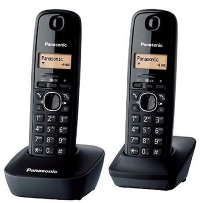 Bežični telefon PANASONIC KX-TG1612FXH DUO crni