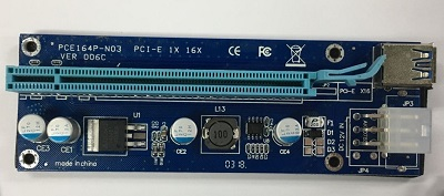 USB 3.0 PCI-E Riser VER006C, 6pin, USB3.0 kabl 60cm