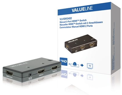 Switch HDMI 2 na 1 VLVSW3402, Valueline