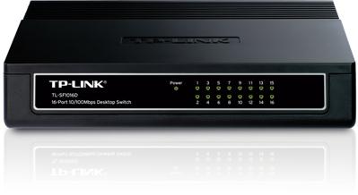 Switch 10/100 MBit UTP 16 port TP-Link TL-SF1016D, Retail