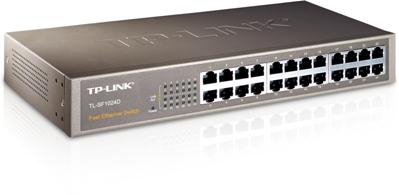 Switch 10/100 MBit UTP 24 port TP-Link TL-SF1024D, Retail