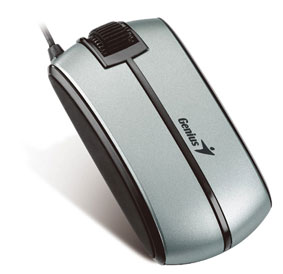 Miš Genius Traveler 330 USB Slim silver, 1200dpi