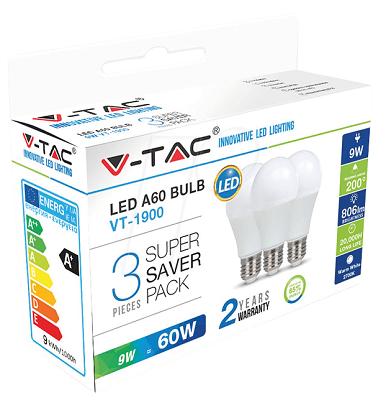 LED SIJALICA V-TAC E27-9W 4000K