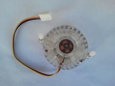 Kuler za grafičku kartu VGA-402, 50X50X10 mm, kružni, providni sa 2 držaca 55mm, 3 pina