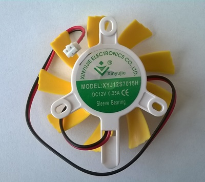 Ventilator za grafičku kartu 7x7x1,5 cm, 2 pina, XYJ12S7015H, DC12V, 0.25A