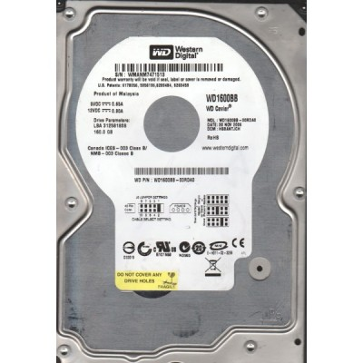 160 GB Western Digital Caviar Blue WD1600BB ATA 100/133, 2MB, 7200 rpm