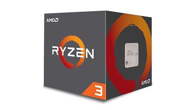 CPU AM4 AMD RYZEN 3 1200 4 CORES 3.1GHZ (3.4GHZ) BOX
