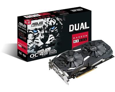 ASUS DUAL-RX580-O4G 4GB GDDR5 256bit