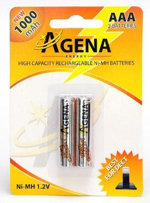 Baterija AGENA Punjiva 1,2V NiMH(1000 Ah), AAA