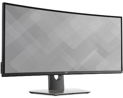 """Monitor 34"""" Dell U3417W UltraSharp zakrivljeni 4K Ultra HD IPS LED"""