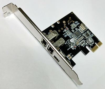 Kontroler PCI Express Firewire 1394 2 x 6 pin + 1 x 4 pin porta, NEWMB, N-PE-1394