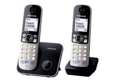 Bežični telefon PANASONIC KX-TG6812FXB ECO DUO