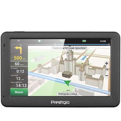 "GPS Prestigio GeoVision 5509 PGPS505900004GB00 + poklon Micro SD kartica 8GB, 5.0"", TFT, 480x272, Win CE 6.0, CPU MSTAR 2531A 800 MHz, 128 MB RAM, 4 GB internal, FM, 950 mAh, Dark Grey, Plastic"