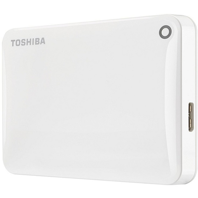 Toshiba 500GB Canvio Connect HDTC805EW3AA USB3.0 White