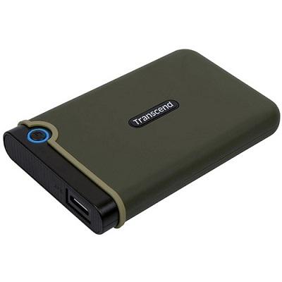 "Transcend 2TB 2.5"" HDD External USB 3.0 TS2TSJ25M3G"