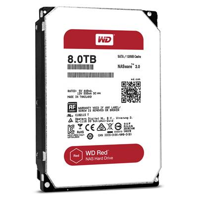 8 TB Western Digital Red WD80EFZX SATA3 , 128MB, 5400 rpm
