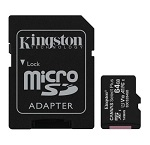 Micro SD Card + adapter 64GB KINGSTON SDCS2/64GB Class 10, UHS-I